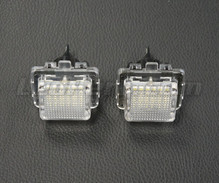 Pack de 2 modules led plaque immatriculation arrière Mercedes (type 4)
