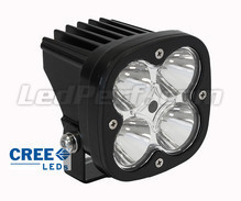Phare additionnel LED CREE Carré 40W pour Moto - Scooter - Quad