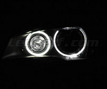 Pack angel eyes H8 à leds (blanc pur 6000K) pour BMW X3 (F25) - Standard
