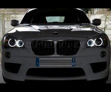 Pack angel eyes H8 à leds (blanc pur 6000K) pour BMW X1 (E84) - MTEC V3.0