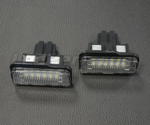 Pack de 2 modules led plaque immatriculation arrière Mercedes (type 2)