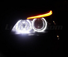 Pack angel eyes à leds pour BMW Serie 5 (E60 E61) Phase 1 - Avec Xenon d'origine -Standard