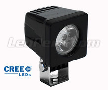 Phare additionnel LED CREE Carré 10W pour Moto - Scooter - Quad
