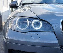 Pack angel eyes H8 à leds (blanc pur 6000K) pour BMW X3 (F25) - MTEC V3.0